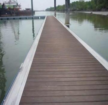 Alumunium system pontoon dermaga alumina